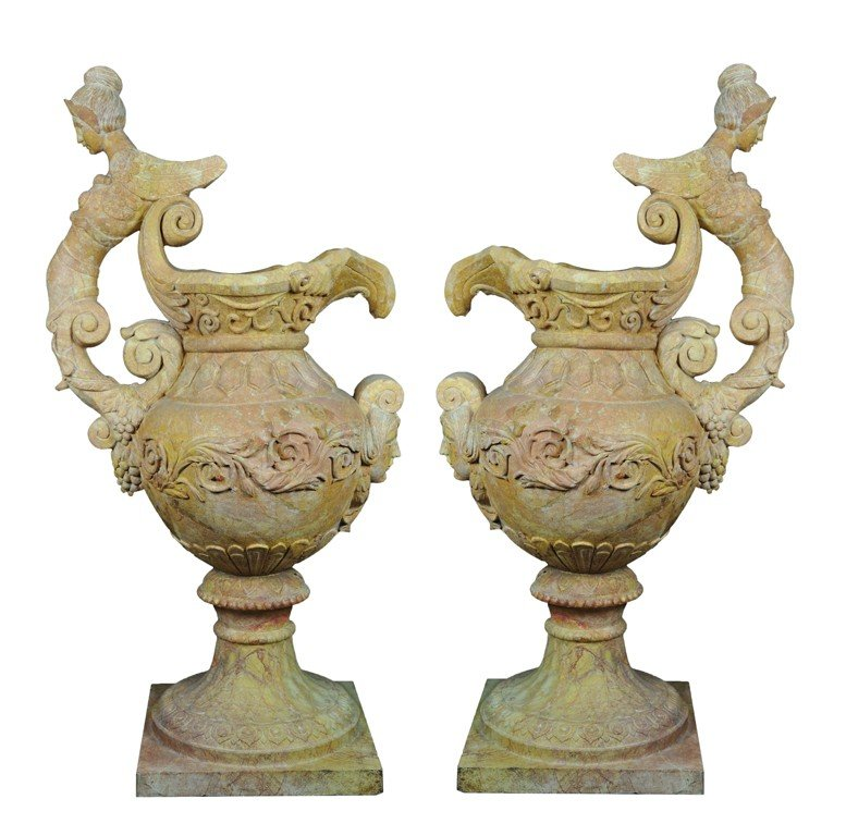 "9: ""A PAIR OF DECORATIVE DORE PERSIANO EWERS"""
