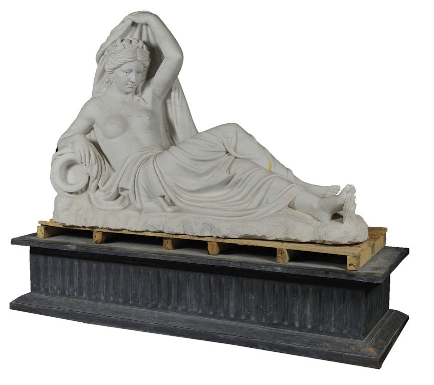11:A SEMINUDE RECLINING FEMALE FIGURE