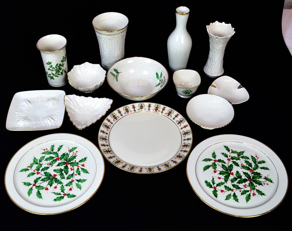 1: GROUP OF LENOX CHINA INCLUDING PLATES, VASES, AND BO