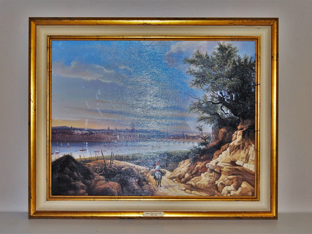"13: OIL ON CANVAS ""THE STONE BRIDGE"" AFTER J. P. ALAUX"