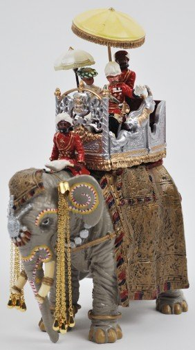 6: DUKE AND DUCHESS OF CONNAUGHT ON STATE ELEPHANT, W.