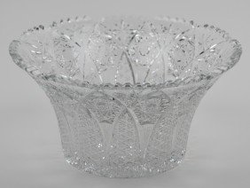 9: CUT CRYSTAL BOWL