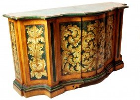 14: PAINTED VENETIAN COMMODE, ROCCO STYLE