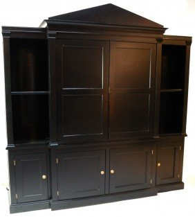 15: TWO PIECE BLACK ENTERTAINMENT CENTER
