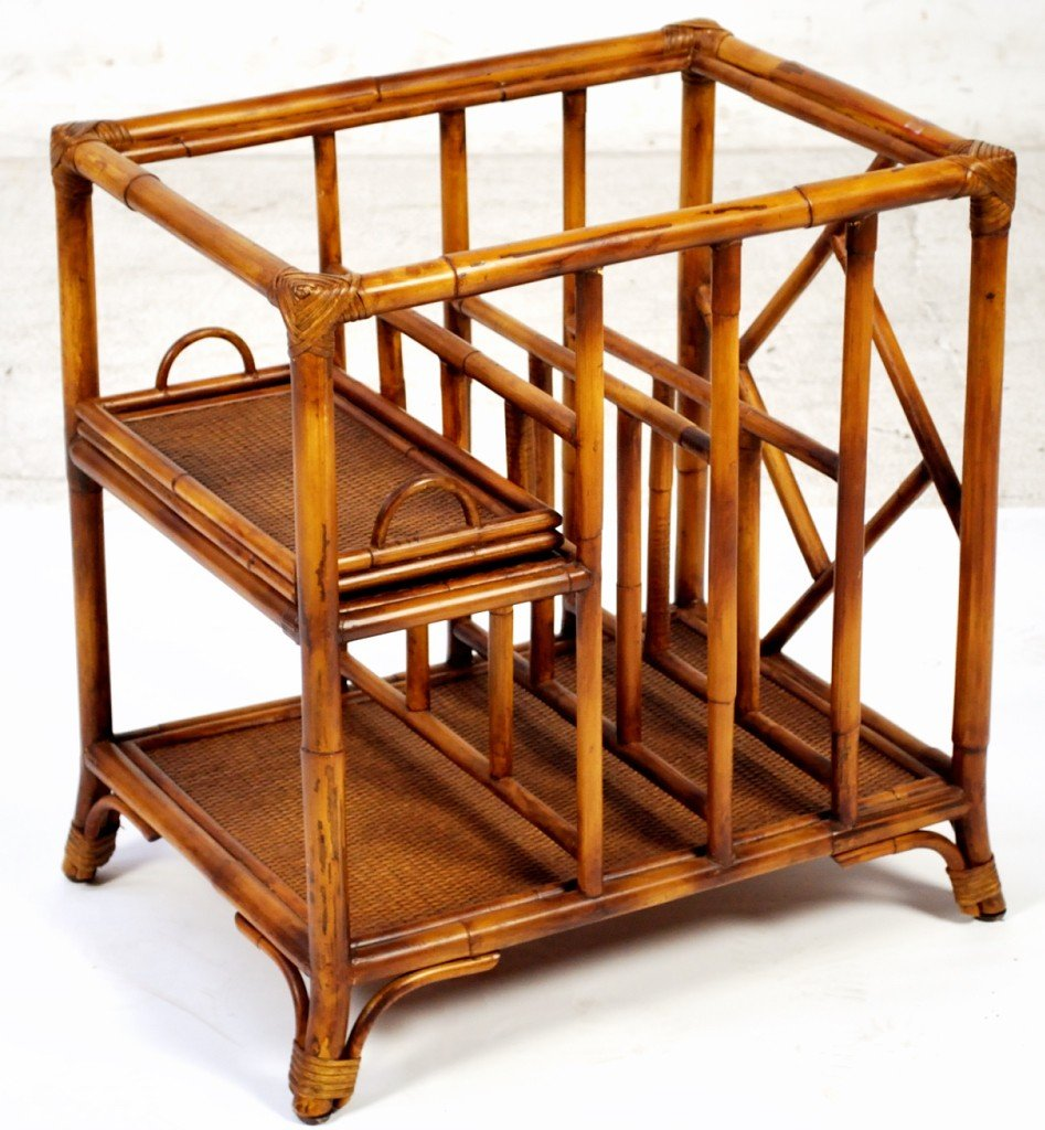 9: A RATTAN STAND AS A TABLE