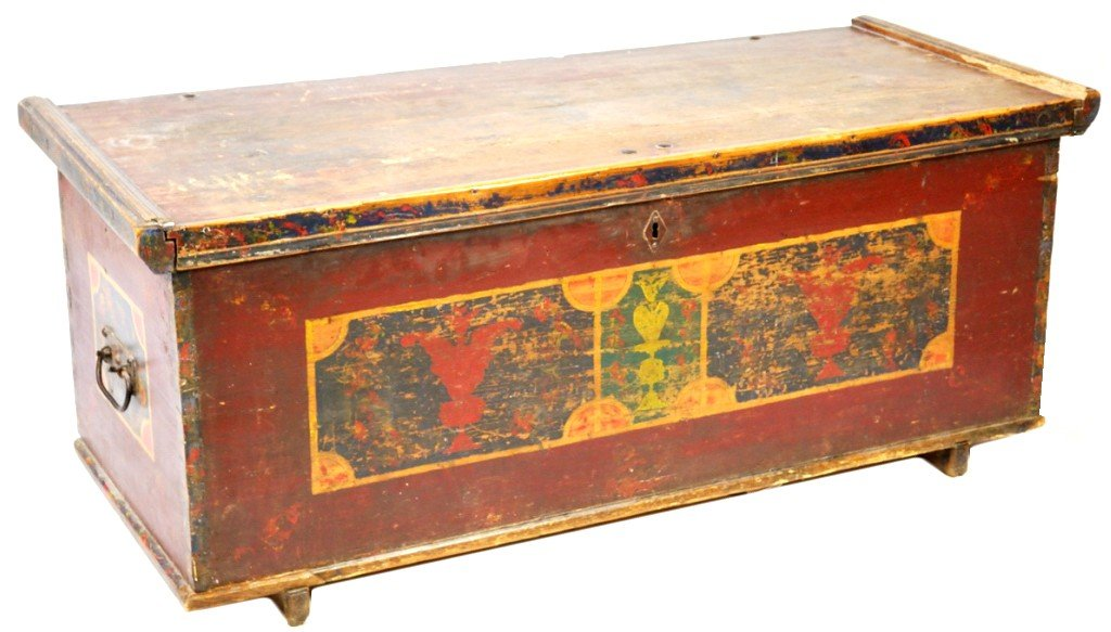 20: CONTINENTAL FOLK ART PAINTED BLANKET CHEST