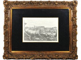 23: AN ITALIAN PRINT OF IL MONTE ESQUILINO IN AN ELABOR