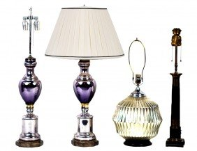 24: A GROUP OF VINTAGE LAMPS