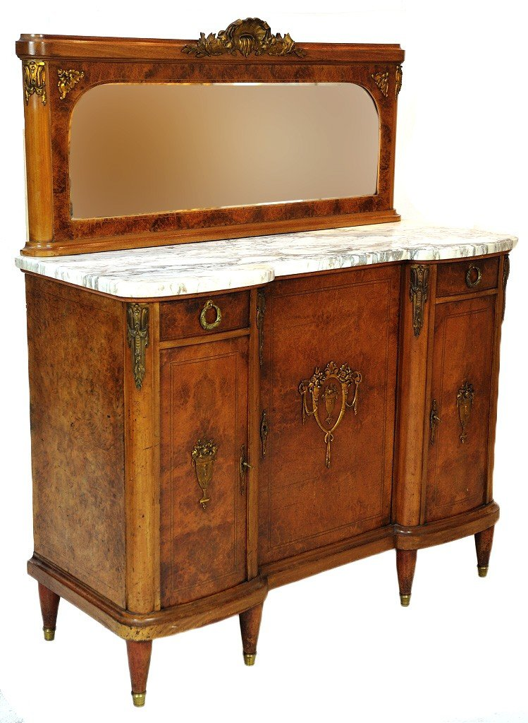 11: AN EARLY 20TH CENTURY LOUIS XVI INFLUENCED BURLED W