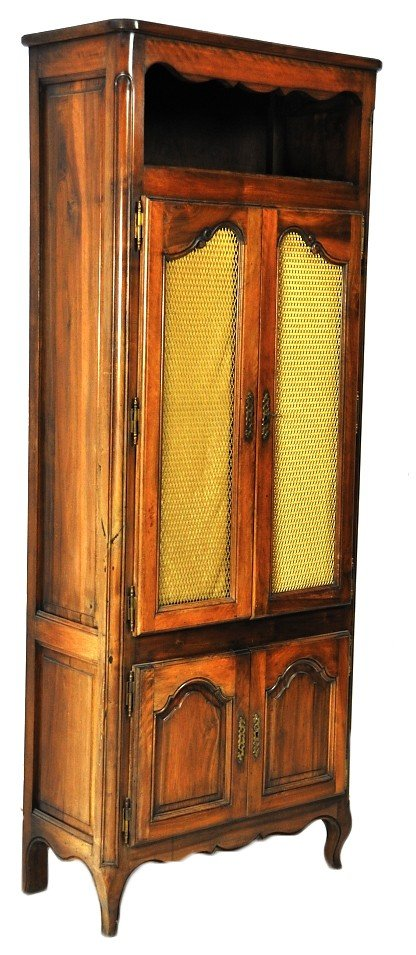 143: A DIMINUTIVE LOUIS XV STYLE FRUITWOOD BIBLIOTHEQUE