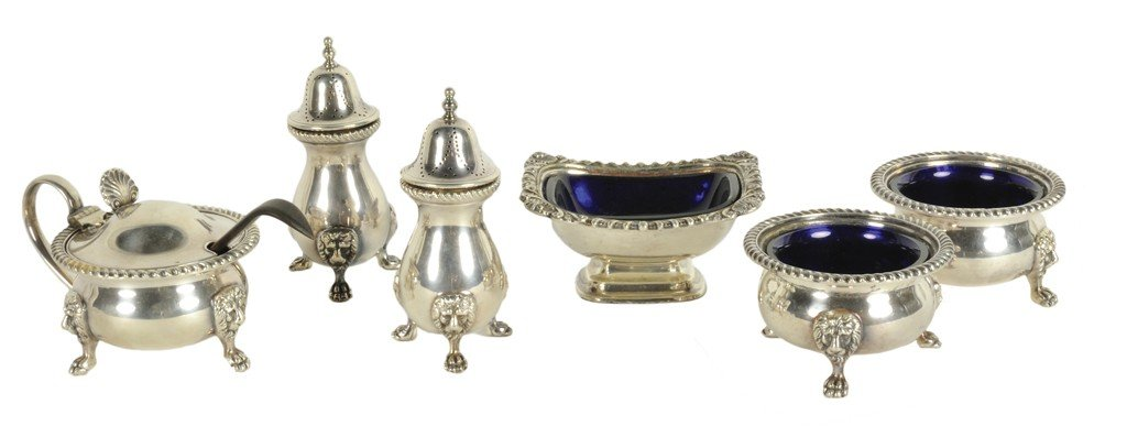 2: A LOT OF SIX SILVERPLATED CONDIMENT/SEASONING CONTAI