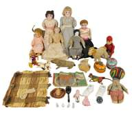 132: A LOT OF DOLLS AND TOYS