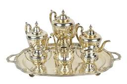 2: A SEVEN-PIECE SANBORNS STERLING SILVER COFFEE AND TE