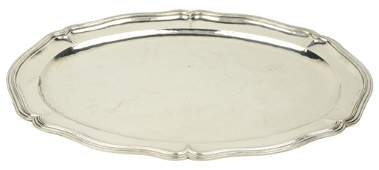 5: A SANBORNS STERLING SILVER OVAL TRAY Mexico Top surf