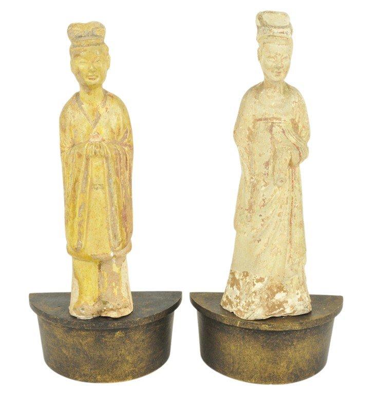 47: PAIR OF HAN DYNASTY FUNERARY FIGURES Han Dynasty, 2