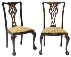 12: A PAIR OF LATE 19th CENTURY / EARLY 20th c CHIPPEND