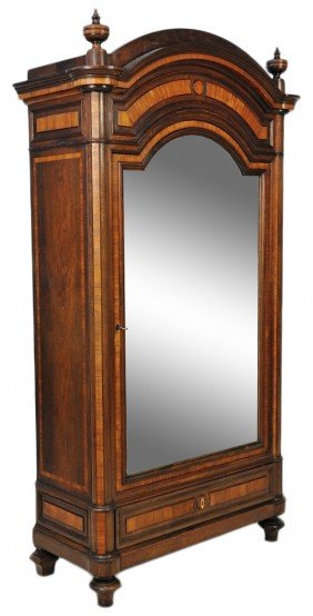 40A:A 19th CENTURY FRENCH BEAUTIFUL ROSEWOOD AND MAHOGA