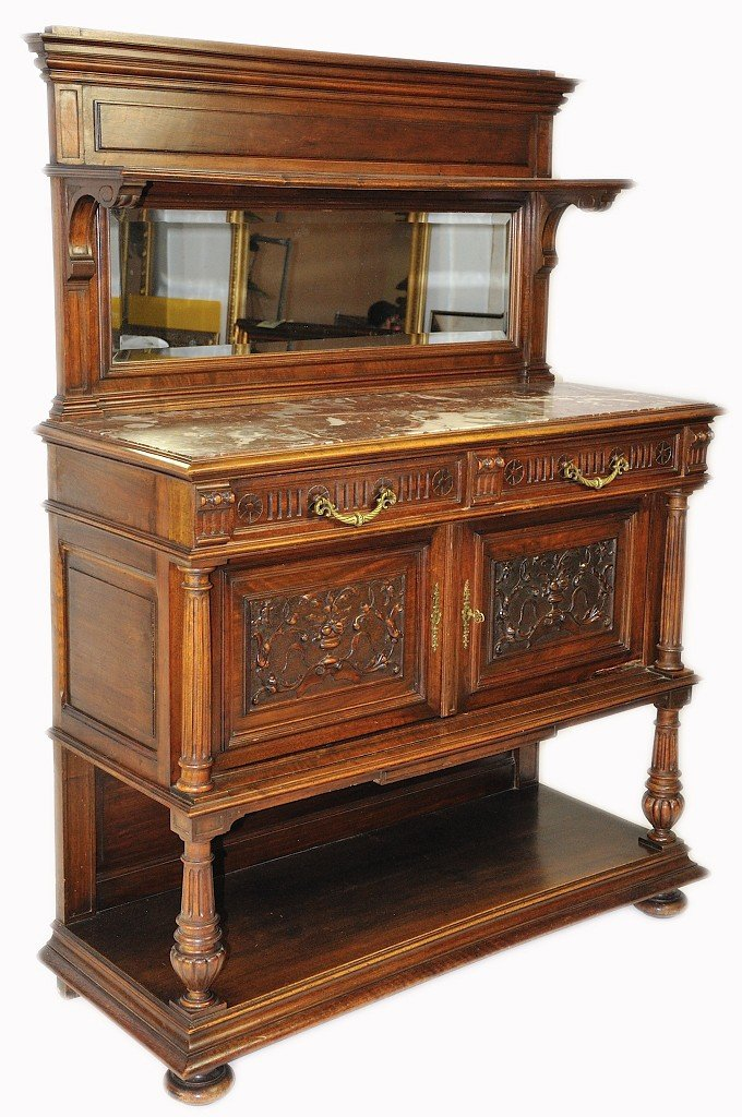 5: A FRENCH NEOCLASSICAL REVIVAL SERVER WITH BEVELED MI