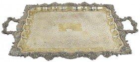 19TH CENTURY BAROQUE STYLE SILVER OVER COPPER SERVI