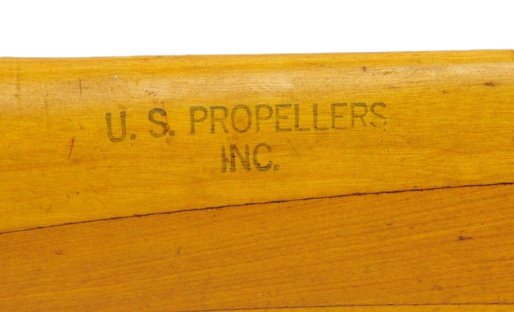 46: A VINTAGE MAPLE PROPELLER MADE BY U.S. PROPELLER IN - 2