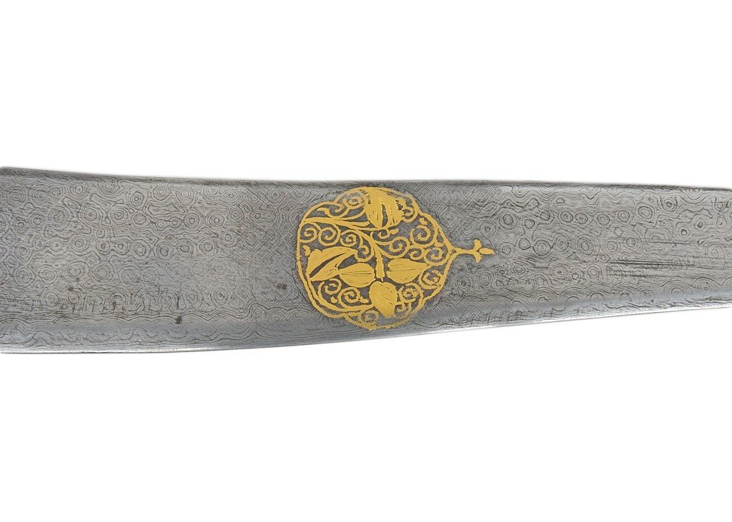 164: A MOGHAL STYLE DAGGER WITH WHITE NEPHRITE JADE HAN - 2