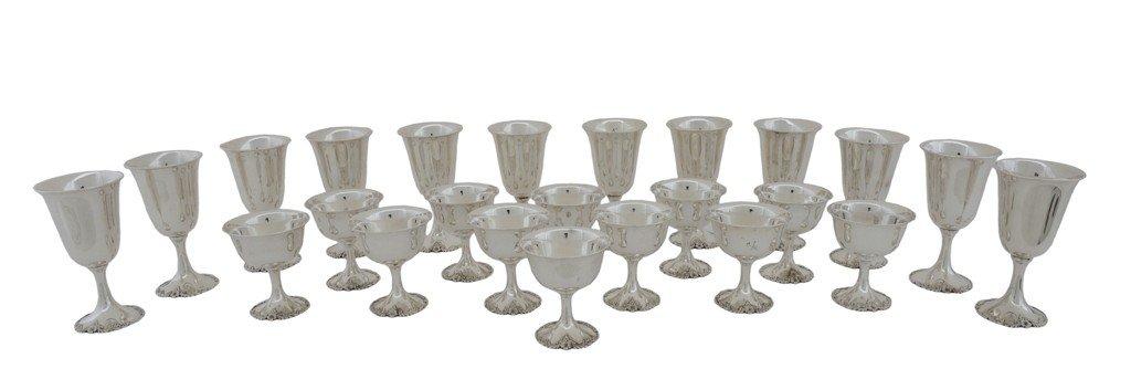 10: A LOT OF 24 MIYATA STERLING 950 DESSERT CUPS AND WA
