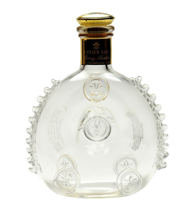 19: BACCARAT GLASS AND GILT DECANTER, 20th Century