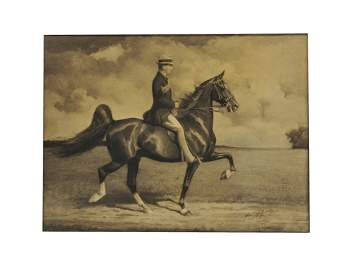 43: GEORGE F. MORRIS, American, 1873-1960, Horse and Ri