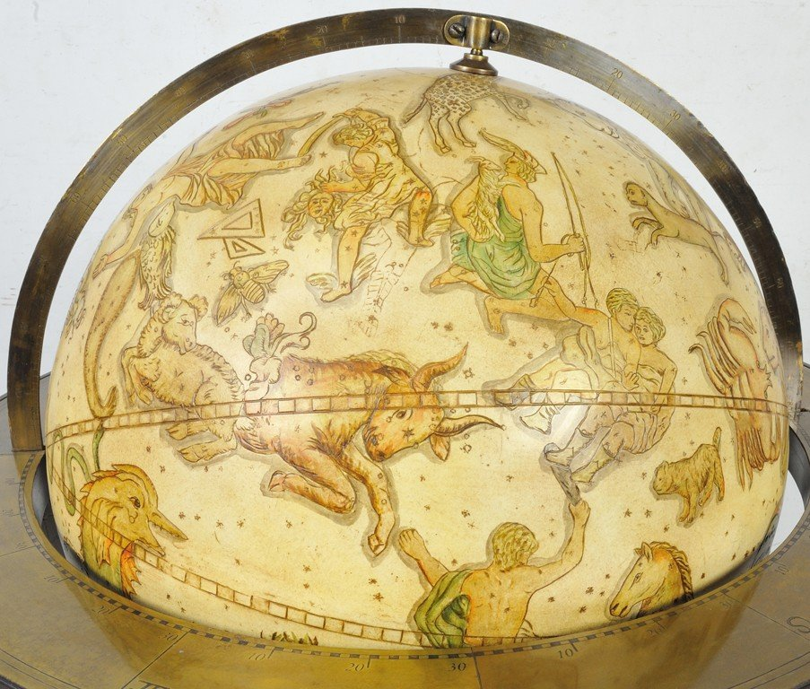 105: A LARGE CELESTIAL GLOBE IN MAHOGANY STANDING FRAME - 3