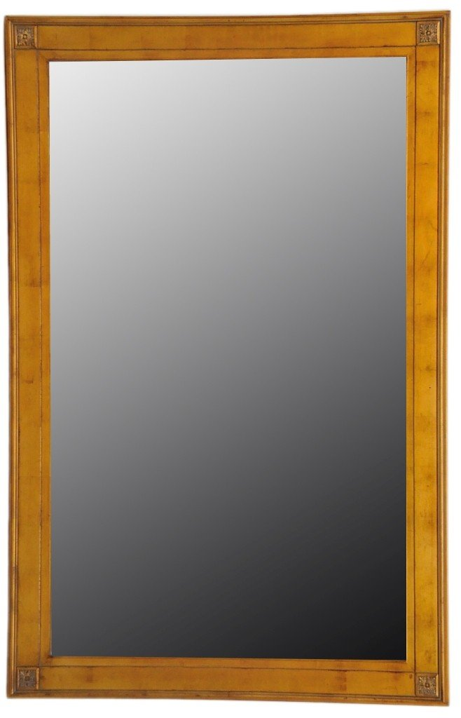 14: A  BEVELED FLOOR MIRROR IN GILTWOOD FRAME