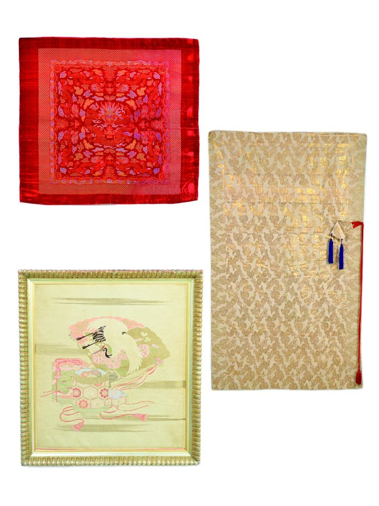 14: A GROUP OF THREE ASIAN TEXTILES