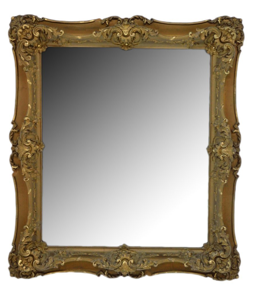 85: ANTIQUE GILT GESSO FRAMED MIRROR