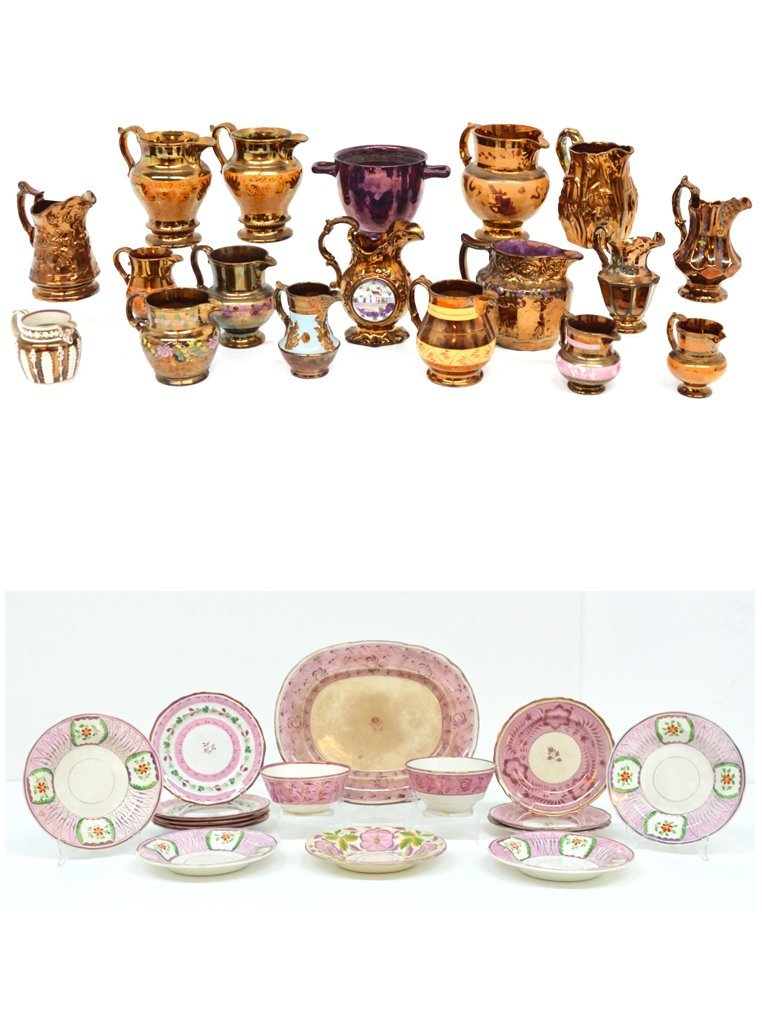 91: A 35 PIECE COLLECTION OF ANTIQUE LUSTREWARE