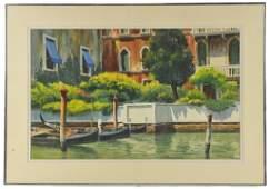 "176: STUART GARRETT, ""VIEUX QUARTIER, NICE"", Watercolor"