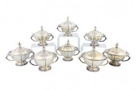 A SET OF EIGHT SANBORNS .925 STERLING SILVER INDIVI