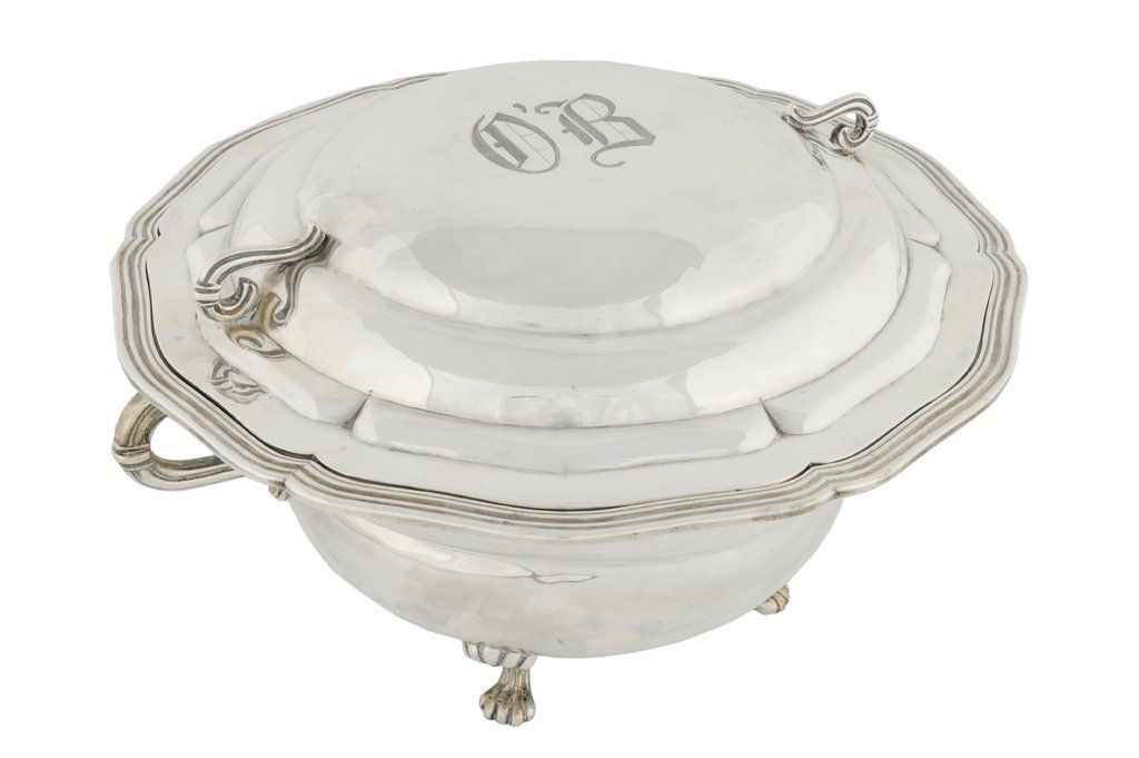 50: A LARGE SANBORNS .925 STERLING SILVER TUREEN AND CO