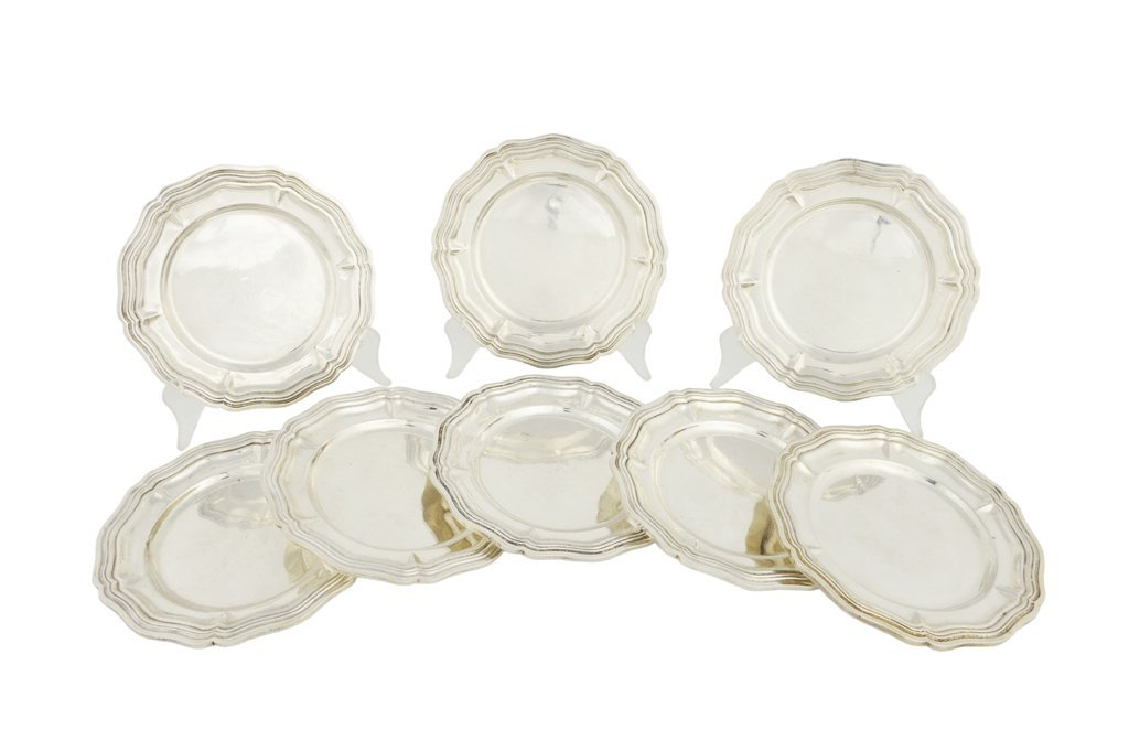 54: A SET OF EIGHT SANBORNS .925 STERLING SILVER BREAD