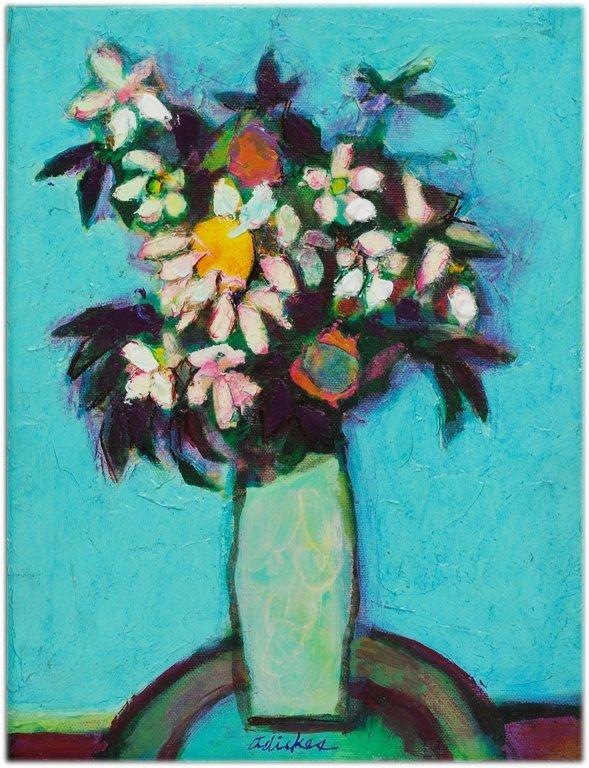 "72: DAVID ADICKES, American 1927-, ""FLOWERS AGAINT LIGH"