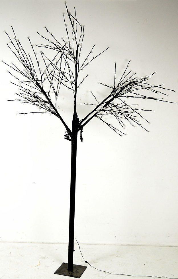 42: A WHIMSICAL SEVEN FOOT DOGWOOD TREE WITH LED BLOSSO