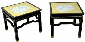 A PAIR OF ASIAN STYLE BAKER OCCAISIONAL TABLES