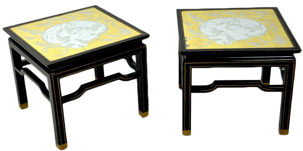 49: A PAIR OF ASIAN STYLE BAKER OCCAISIONAL TABLES