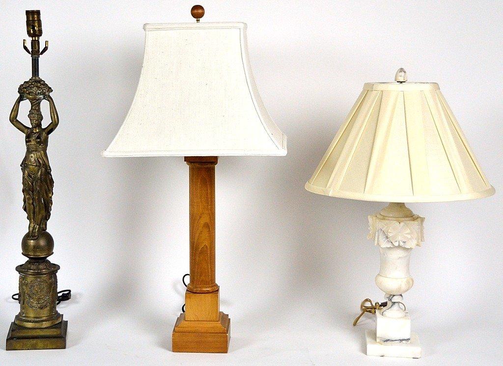 64: A TRIO OF DECORATIVE LAMPS