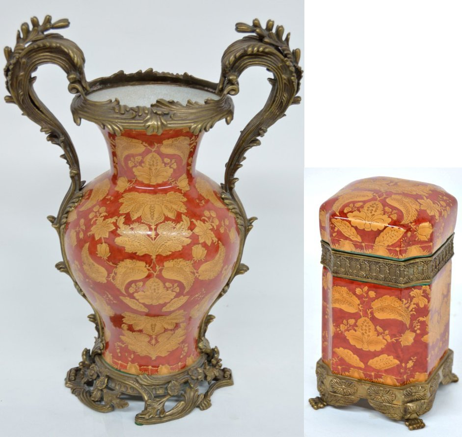 71: TWO PIECES OF MARK ROBERTS FRENCH STYLE PORCELAIN