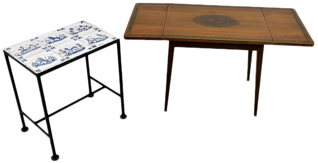 122: TWO DECORATIVE ACCENT TABLES