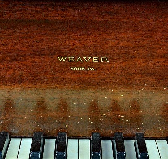 143: MAHOGANY BABY GRAND PIANO BY WEAVER - 3