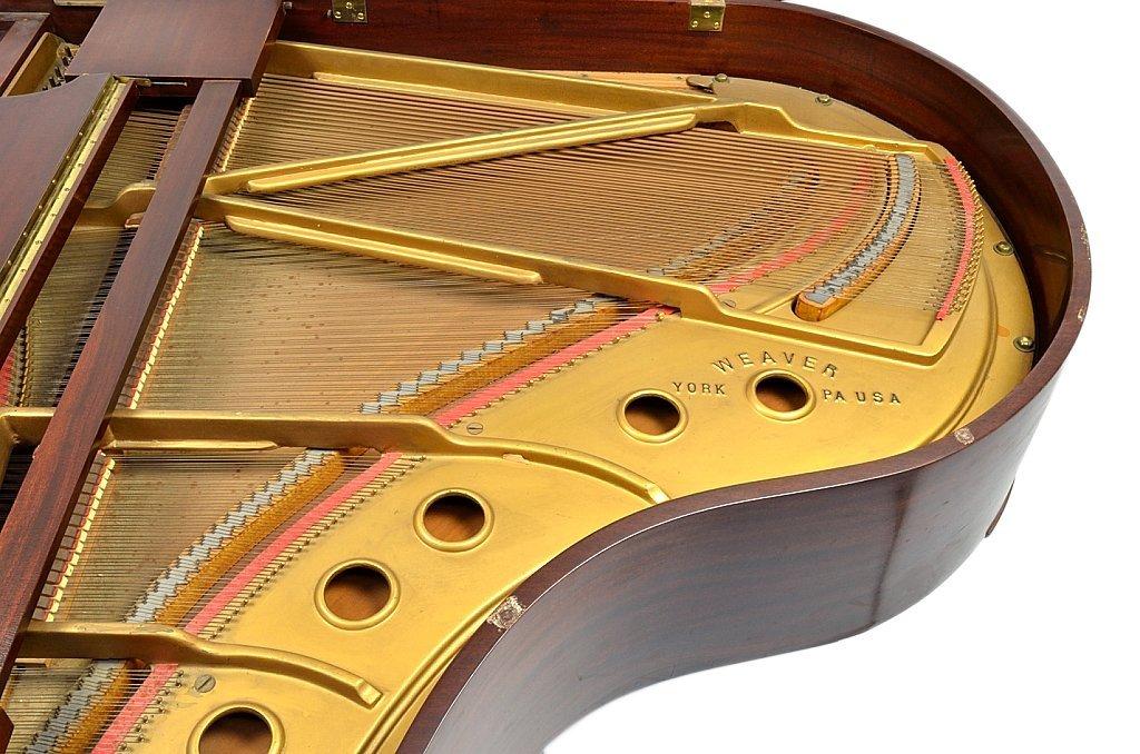 143: MAHOGANY BABY GRAND PIANO BY WEAVER - 4