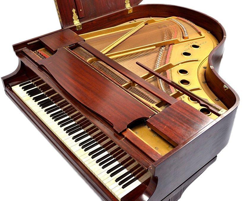 143: MAHOGANY BABY GRAND PIANO BY WEAVER - 5