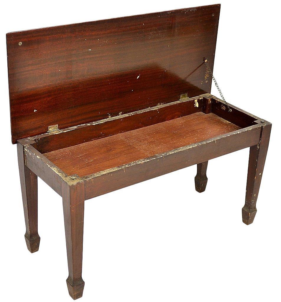 143: MAHOGANY BABY GRAND PIANO BY WEAVER - 8