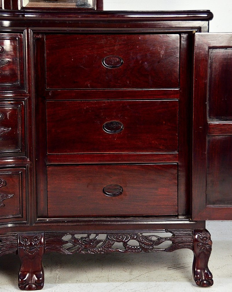 221A: ROSEWOOD DRESSER WITH MIRROR - 10