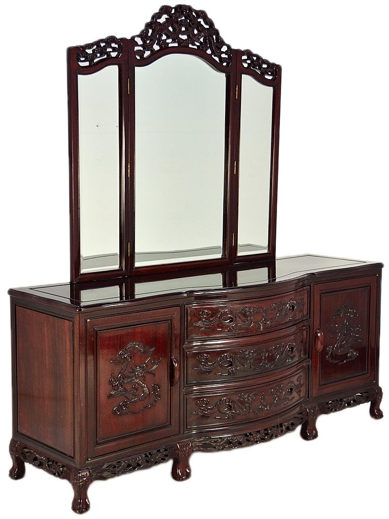 221A: ROSEWOOD DRESSER WITH MIRROR